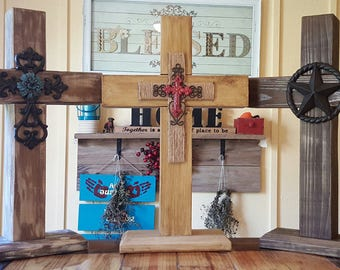 Larger Solid Handcrafted Wooden Crosses Made To Order