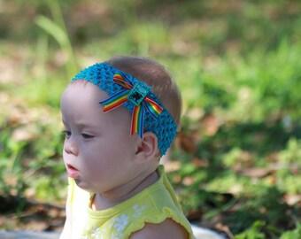 Blue Fantasy Baby Headband