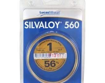 Lucas Milhaupt Silvaloy 560 56% Silver Solder Brazing Alloy 1 oz, 98060