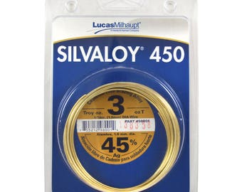 Lucas Milhaupt Silvaloy 450 45% Silver Solder Brazing Alloy 3 oz, 98001