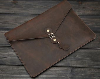 Macbook Leather case sleeve for Macbook Pro and Air bag