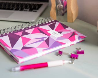 A4/A5 Personalised Life Planner Diary - Purple-metric Design