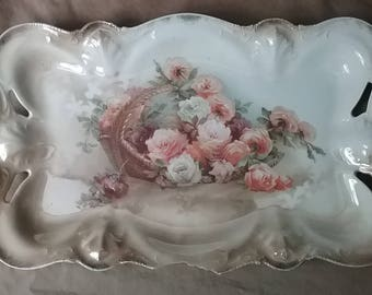 Imperfect RS Germany Wheelock trade mark Prussia platter