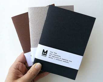 Corium | Handmade paper Notebook, travelers planner, Journal, diary, Bullet Journal refill for Fauxdori Midori Traveler's A6 size