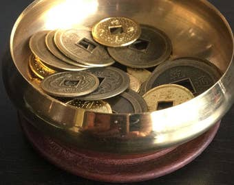 Feng Shui Coins in a Bowl