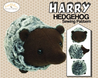 Hedgehog plush PDF sewing pattern