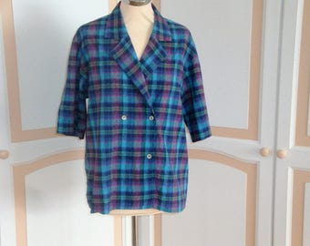 Jaeger Check Blouse size 16