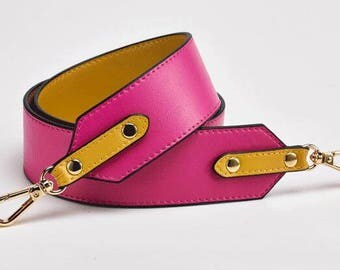 98*4.6 cm Genuine leather Purse Strap Replacement Handle Chain Real leather bag hadnbag Shoulder bag Strap High Quality black red blue pink