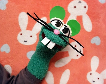 Mouse sock puppet