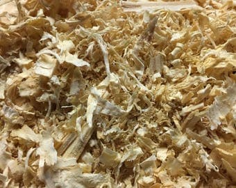 Bulk Pine Shavings (25lbs) Natural, Kiln Dried, for Animals, Gardening, Made in USA by Crossroad Sales LLC
