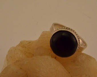 Sterling Silver Studded Bezel Ring