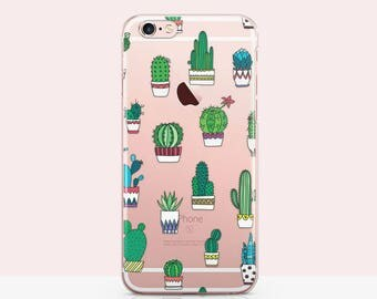 Cactus iPhone case - Cactus iPhone 6 case, Cactus phone case Clear Cactus iPhone 7 case - Succulent iphone Kawaii Mexican Case for iphone 30