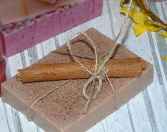 Vanilla and Cinnamon glycerine soap.Healthy handmade soap