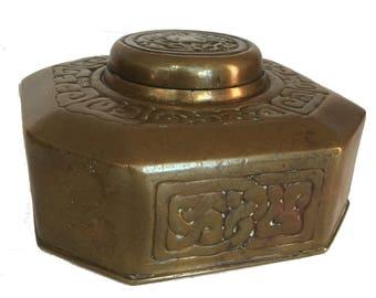 Tiffany Studios New York Bronze Zodiac #842 Inkwell