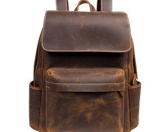 Leather Backpack Vintage Leather Backpack mens Backpack Laptop Bags Leather Briefcase Leather Satchel Messenger Bag Mens Briefcase Messenger