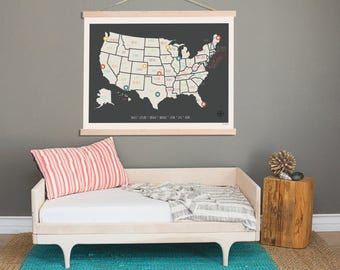 Us Wall Map Etsy - Map of us what wrong with the wall