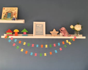 Colourful flag paper garland decoration - birthday - wedding - babyshower - nursery - party