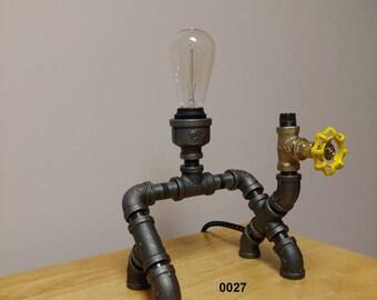 Industrial Pipe Lamp, Desk Lamp, Table Lamp, Edison Lamp