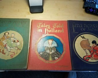 3 My Travelship books Little prince of Japan tales from Holland Nursery friends from France