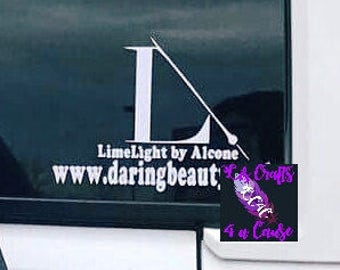 Limelight window decal with your website