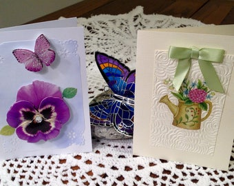 Note Cards - Handmade (Set of 2)