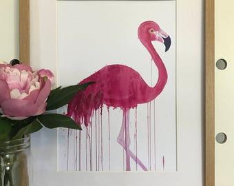 artbrush 'Floyd' print (Flamingo)