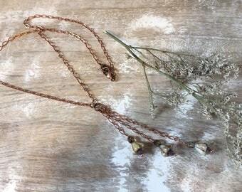 Vintage Flower Necklace, Romantic
