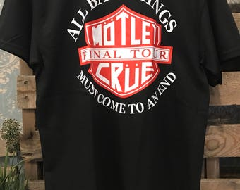 Montkey cru all bad things must come to an  end band tee