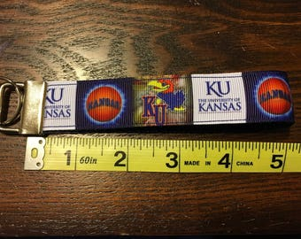 University of Kansas NCAA Key Fob/Chain/Wristlet