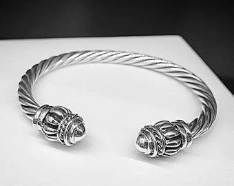 Bracelet adjustable sternal, silver bracelet, sternal Bangle, silver Bangle