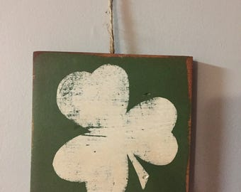 Celtic Sign - Reclaimed Wood Sign: Wall Art Pallet Recycled Wood Art Painting Irish St. Patricks Day