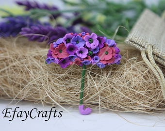 Purple, purple, lilac, pink umbrella flowers