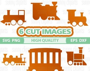 Train Svg, Train Clipart, Train Decal, Railway, Svg Cutting File, Svg File For Cricut, Digital Cut Files, Silhouette Cameo, Png Files, Eps