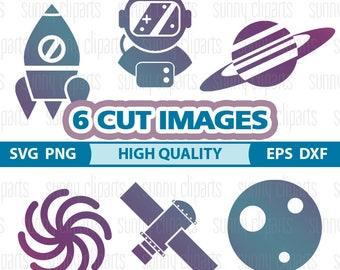 Planet Svg, Rocket Svg, Space Svg, Cosmonaut, Spaceman, Astronaut Helmet, Silhouette Print, Svg Downloads, Svg Silhouette, Svg Cutting File