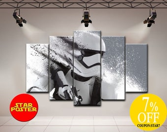 Star Wars art Star Wars Stormtrooper art Star wars print Stormtrooper personalised Star wars poster Stormtrooper wall art Star wars canvas