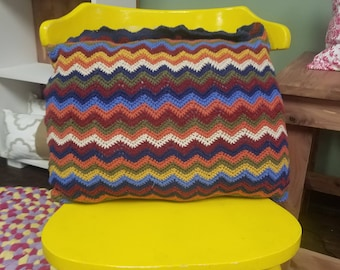 Up-Cycled Chevron Pillow