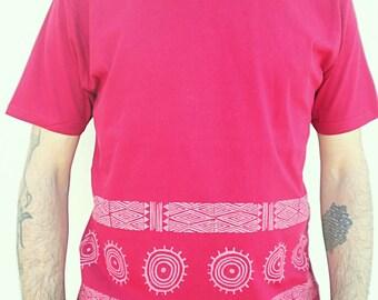100% organic cotton handprint Tshirt men