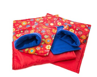 WATERPROOF Guinea Pig and small animal two fleece liners 100x54 cm