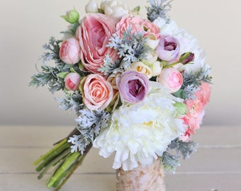 Rustic Silk Bridal Bouquet