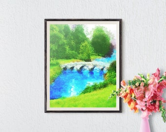 Abstract Landscape, Abstract Painting, Landscape Art, Abstract Art Print, Modern Landscape, Landscape Watercolor, Impressionist Painting