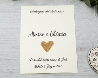 """Wedding celebration booklet-Line """"Country Heart"""""""