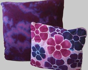 Batik/Tie-dye Purple Set of 2 Pillow Covers