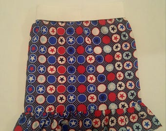 4th of July Skirt with ruffles 6mos -4T