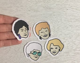 Golden Girls Stickers - Rose, Blanche, Dorothy and Sophia