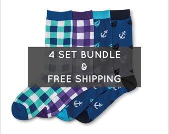 Executive Bundle - Bamboo Socks / Colorful Socks / Groomsmen Socks / Wedding Socks / Dress Socks / Happy Socks / Best Christmas Gift Father