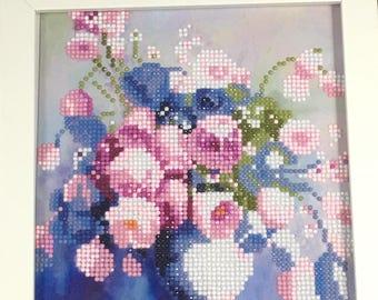 Flowers Handmade Diamond Artwork