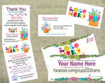 Marketing Business Kit With Flowers, Small Kit Printable, Digital DotDotSmile