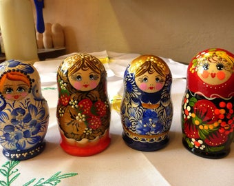 Babushka Matryoshka Cute Different Nesting Dolls Wedding Birthday Gift Home Decor