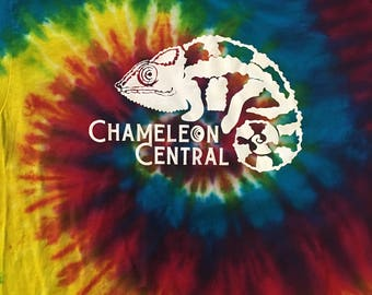 Chameleon Central USA  Tie Dyed Panther Logo T-shirt