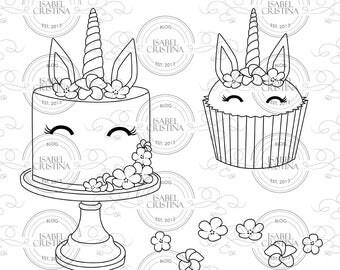 Unicorn Cake - IsabelCristinaStamp